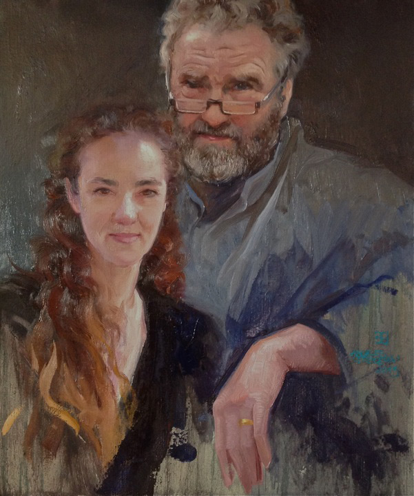Alice Von Westpal and her father